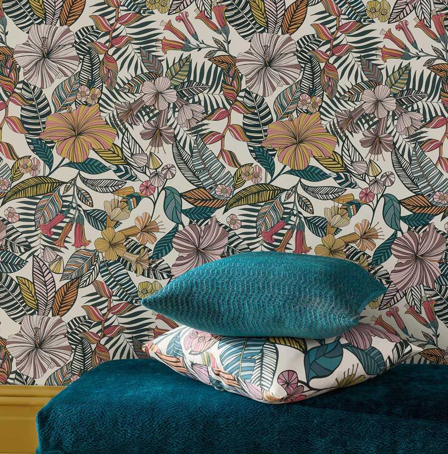 autumn 2018 deya wallpapers osborne little. Black Bedroom Furniture Sets. Home Design Ideas