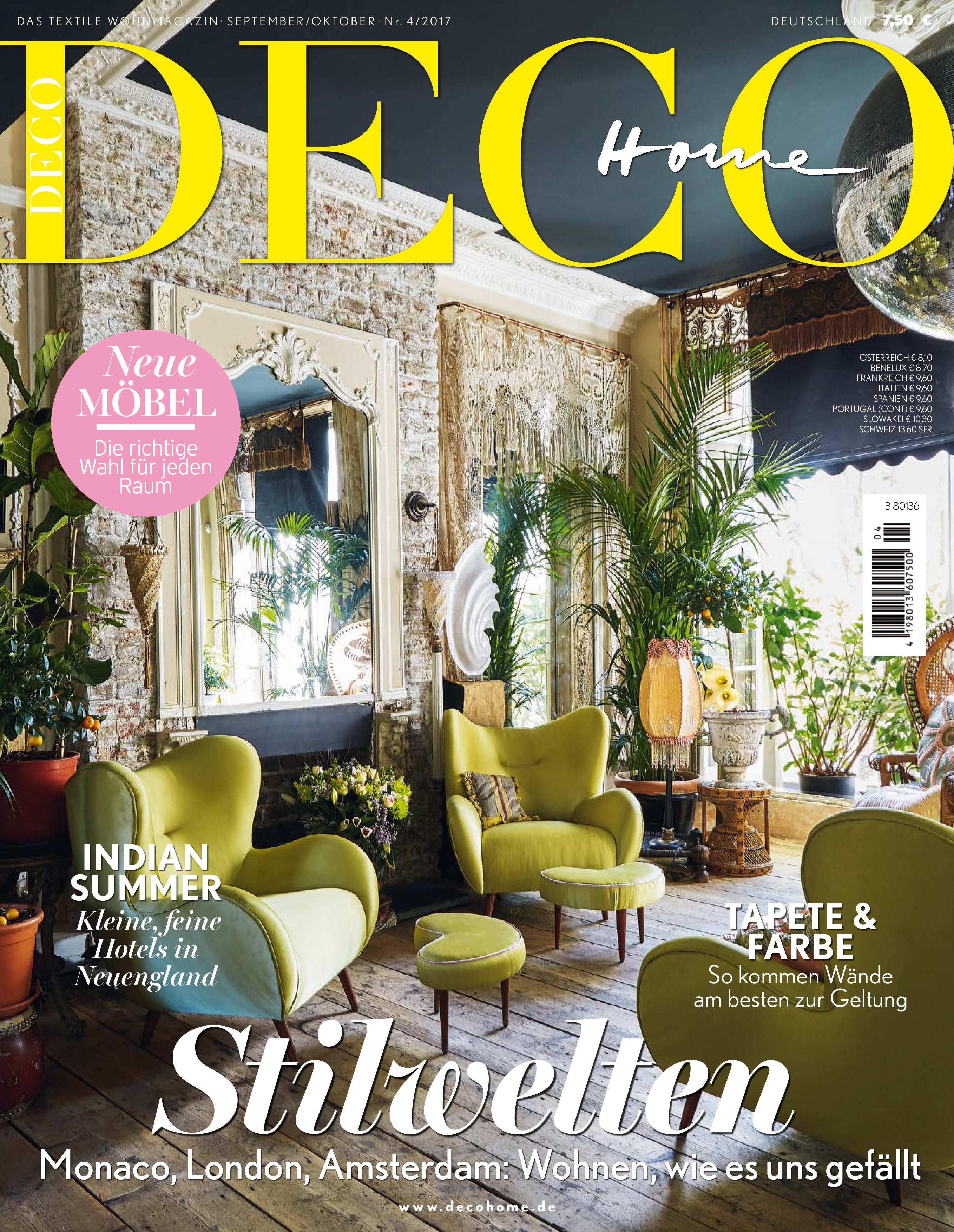 IN THE PRESS - DECO HOME GERMANY OCTOBER 2017