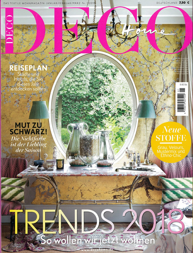 IN THE PRESS – DECO HOME GERMANY FEBRUARY 2018
