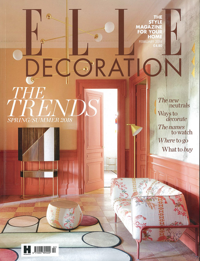IN THE PRESS – ELLE DECORATION FEBRUARY 2018