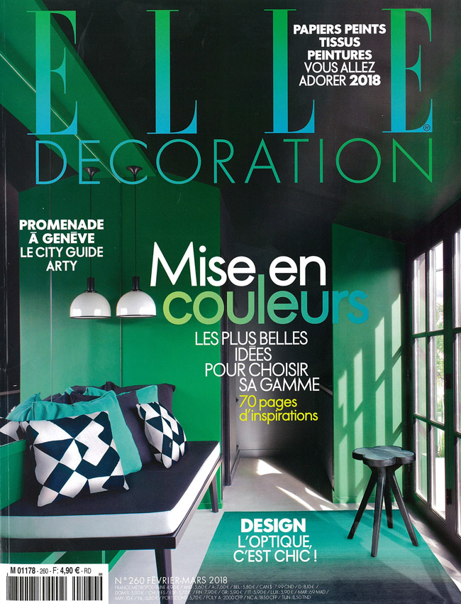 IN THE PRESS – ELLE DECORATION FRANCE FEBRUARY 2018