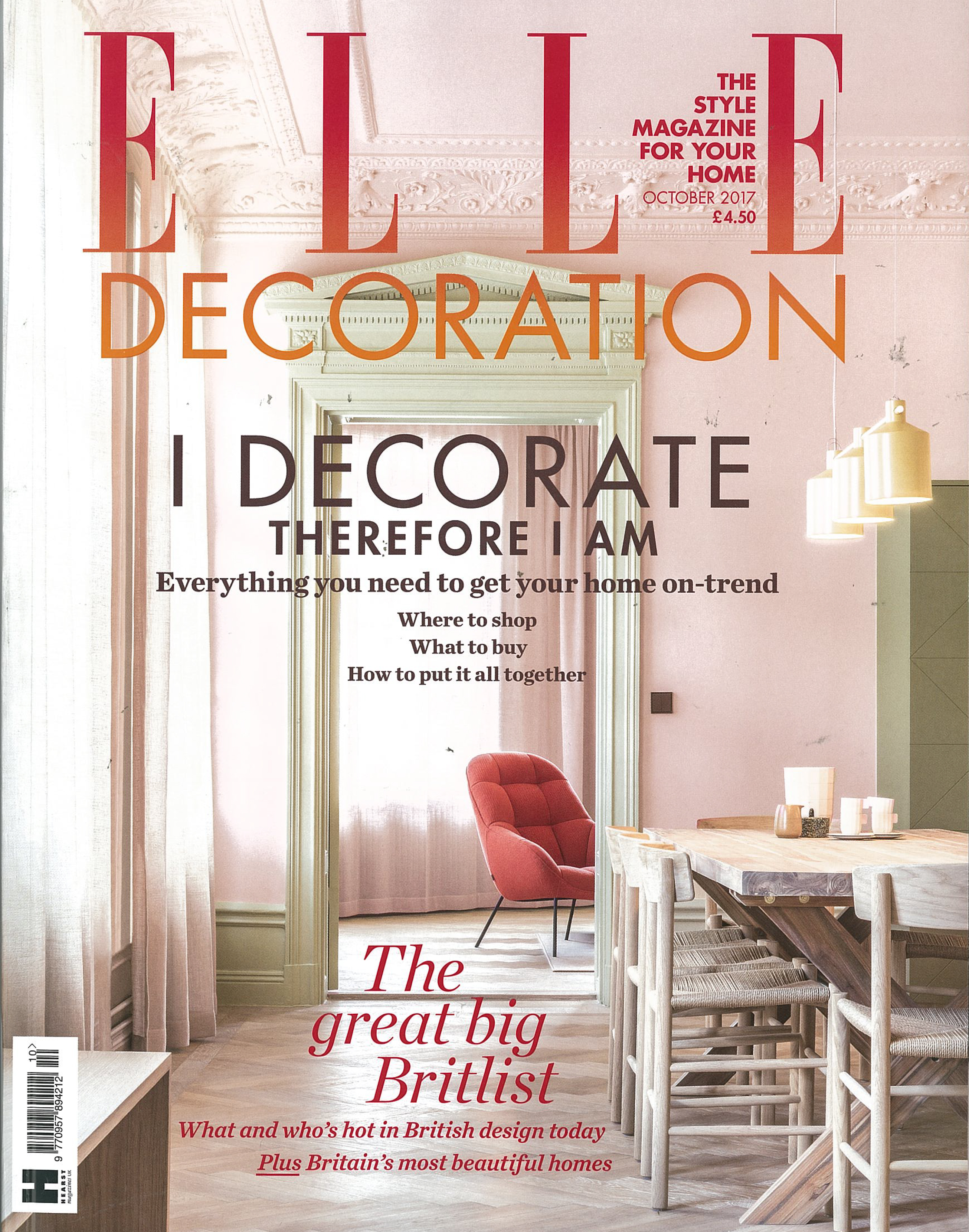 IN THE PRESS – ELLE DECORATION OCTOBER 2017