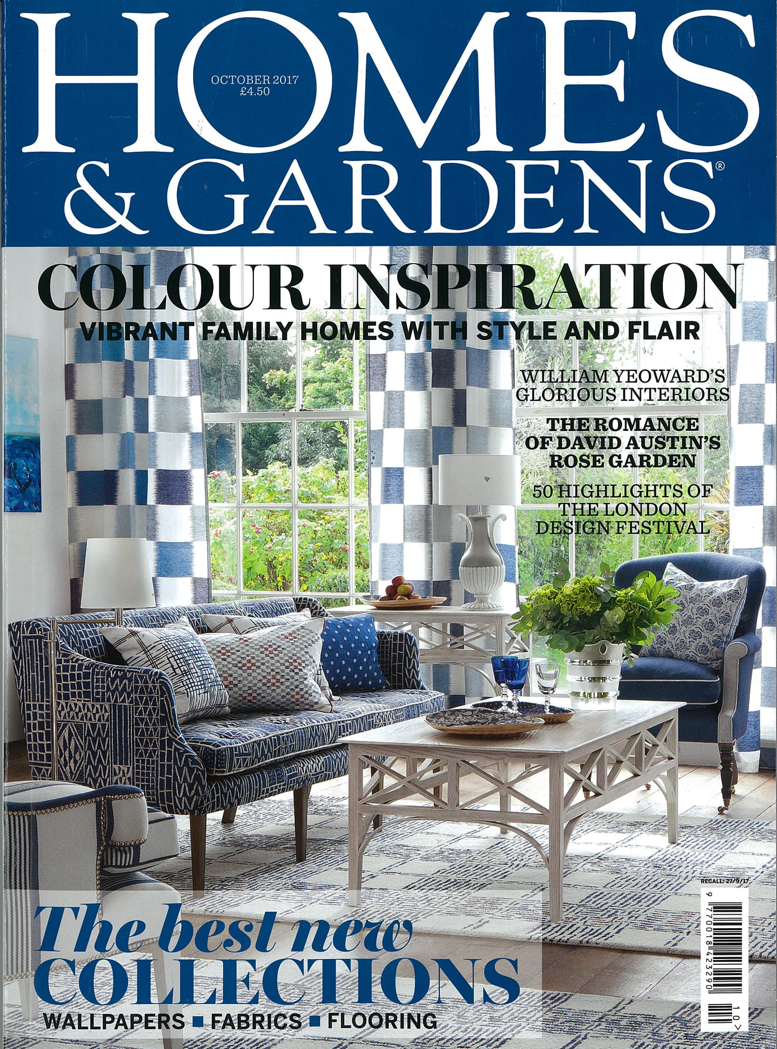 IN THE PRESS – HOMES & GARDENS OCTOBER 2017