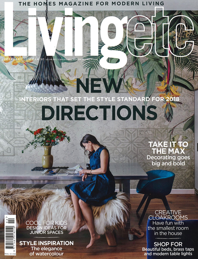 IN THE PRESS – LIVING ETC FEBRUARY 2018