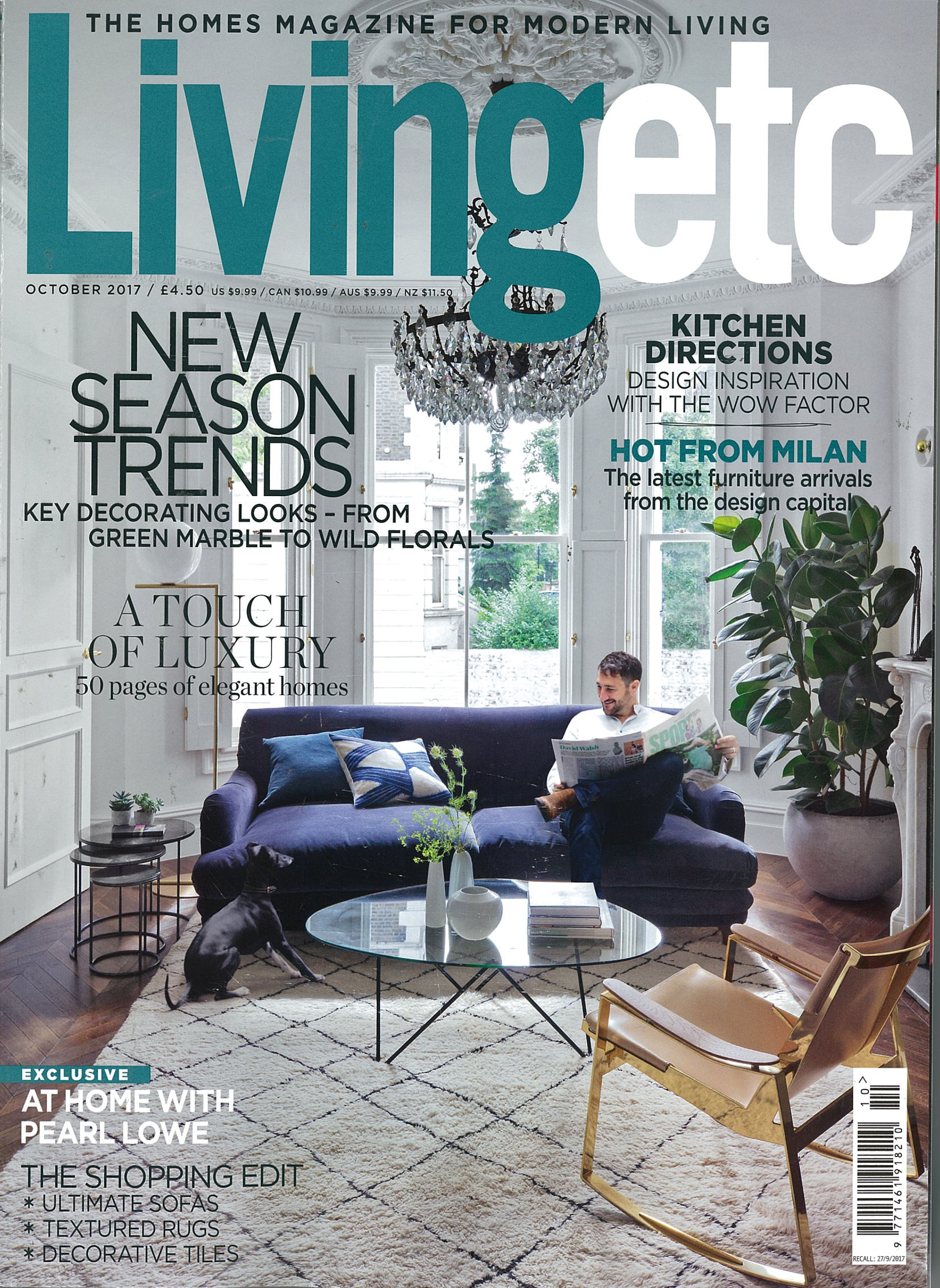 IN THE PRESS - LIVING ETC OCTOBER 2017
