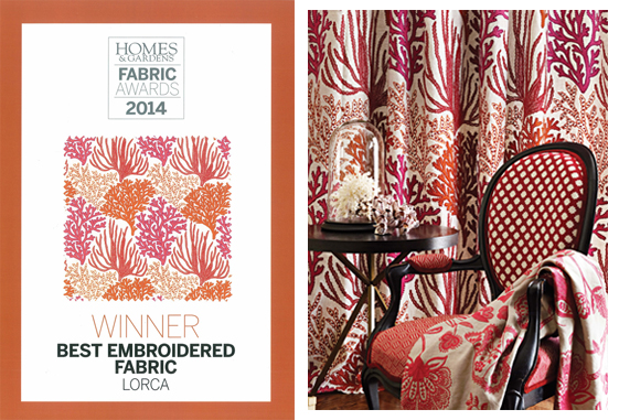 Homes & Gardens Fabric Awards 2014 banner
